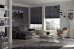 Pleated Blind Charcoal