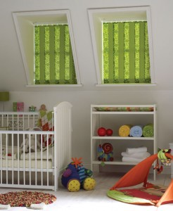 Avanti Blinds Vertical Mix and Match Green